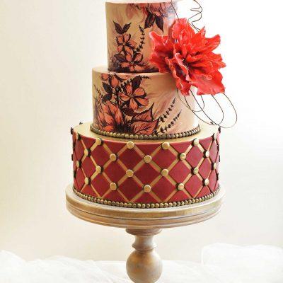 Bordo crvena dekoracija - torte i kolači