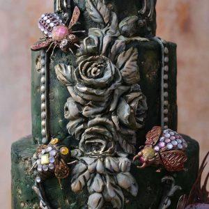 Zelene, cvetne dekoracije za torte