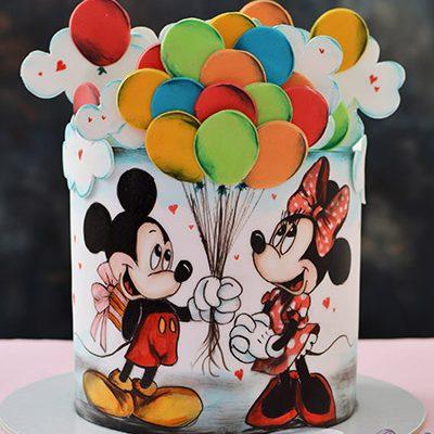 Decije torte Miki i Mini sa balonima