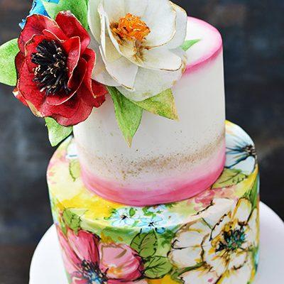 Rodjendanske torte Cvece od wafer papira