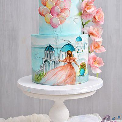 Rodjendanske torte Devojka na Santoriniju