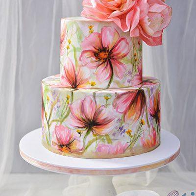 Rodjendanske torte Rucno slikano cvece