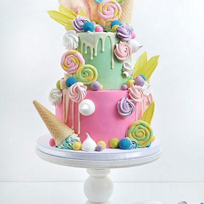 Rodjendanske torte Sarena sa kornetima