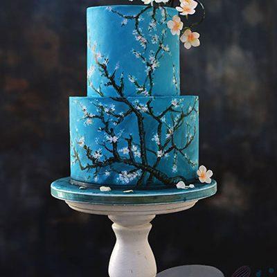 Rodjendanske torte Van gog rucno slikane torte